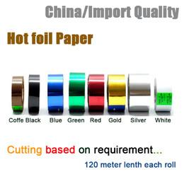 Wholesale BOPET Hot stamping foil paper laser foil paper leather cigarette box mobile phone box stamping machine foil paper2cm width price