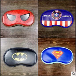 Wholesale Sleep Mask Cartoon Eyes - 200pcs CCA4012 High Quality Sleep Masks Cartoon Sleep Patch Superhero Sleep Mask Blindfold Spiderman Batman Travel Sleep Rest Aid Eye Mask