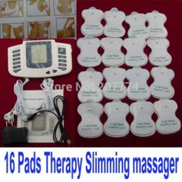 Wholesale Electric body massager Relax Muscle Therapy Massage tens Acupuncture Health Slimming relaxing massager relaxation machine16 pads