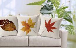 Plant Leaves Sculpt Texture The Maple Leaves Ginkgo Biloba Pillow Case Cover Massager Decorative Pillows Propitious Gift