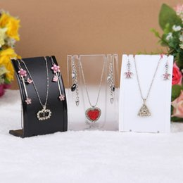 Wholesale Acrylic Earrings necklaces display stand Store show case Black white Clear Plastic jewelry display stand organizer holder rack size cm
