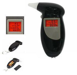 Wholesale Alcootest Ethylotest Digital Ecran Eclaire avec embouts ethylometre testeur alcool Digital Breath Alcohol Tester Breathalyzer