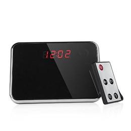 HD Camera Clock with Remote control Spy Mirror Clock Camera Remote Control DV Motion Detection Hidden Camcorder Video Recorder DVR Clock
