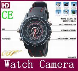 Factory promotion 16GB Waterproof Watch Camera Mini USB Disk Web Hidden Digital Video Camera DV hot sale 2016
