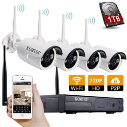 Wholesale KOMTOP wireless network security system with P X Channel x HD rainproof IP Camera Built in WIFI Module MP night vision Wireless CC