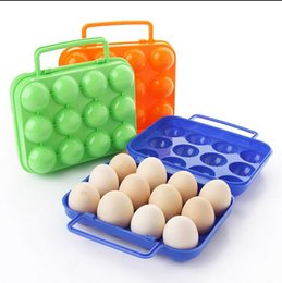 Wholesale Guaranteed Plastic storage box holes with portable handle organizer egg carton camping picnic BBQ shockproof food c