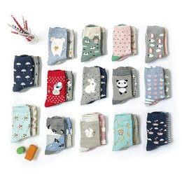 Wholesale pairs women socks Autumn and winter the Japanese cartoon animal story cotton socks in tube AB code