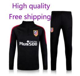 Wholesale high quality Atletico Madrid training suit survetement Survetement football uniforms coat