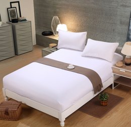 Wholesale Solid Color Polyester Mattress Protectors Wihte Bedding Sheet Sizes Colors Home textiles