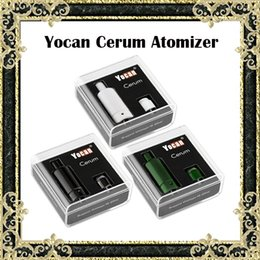 Wholesale Original Yocan Cerum Atomizers E Cigarette Wax Vaporizer Full Ceramic With Extra QDC Coil Fit mAh Evolve Plus Battery Colors Available