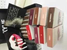 Wholesale 8 colors sets in box set Kylie Lip Kit by kylie jenner Velvetine Liquid Matte Lipstick Lip Pencil Lip Gloss Set color DHL