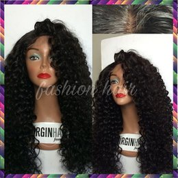 Full Density Long Kinky Curly Glueless Full Lace Wigs Virgin Peruvian Deep Curly Hair Wig Full Lace Front Human Hair Wigs