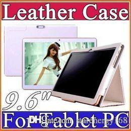 "9.6 inch Original Protective Leather case for 9.6"" 3G phone MTK6572 MKT6589 MTK6592 MTK8382 Tablet PC D-PT"