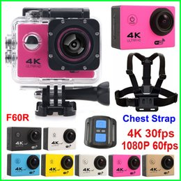 Wholesale Ultra HD Action camera Chest Strap F60 F60R K fps waterproof WiFi Sport camera quot LCD D lens Helmet Cam Car Recorde