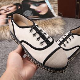Nueva marca de fábrica del cuero genuino de alpargatas canal Alpargatas zapatos de marca ocasionales para