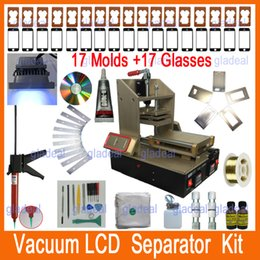 Wholesale 5 in LCD Repair Machine Kits Set Samsung Frame Splite iPhone Frame Laminator Vacuum LCD Screen Separator Glue Remover