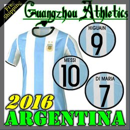 Wholesale 2016 Argentine Home Away Jersey Argentina DI MARIA HIGUAIN MESSI shirt