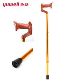 Wholesale yuwell YU820 old man walking stick for old portable walking canes for men walkers canes skid crutch adjustable walker stick