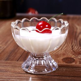 Free shipping Beautiful Dessert and Ice Cream Cups, Ice Cream Sundae Cups,Ice Cream Tubs set of 2
