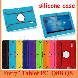 Wholesale Kids Carton Soft Gel Silicone Rubber Case For Q88 Q8 Anti dust Tablet PC Cover Cute Silicone Case