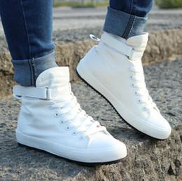 Nueva primavera / otoño de los hombres de los zapatos ocasionales respirables Negro Alto,top de los zapatos de lona con cordones de Alpargatas manera de
