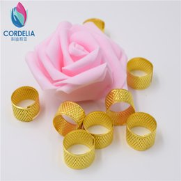 lowest factory price natural cooper made round needle thimbles for finger protector as embroidery tools cross stitch tools as grip shield