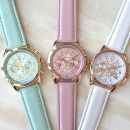 Hot Fashion Black Women Lady Roman Numerals Faux Leather Strap Band Analog Quartz Wrist Watch Gift