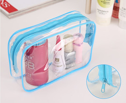 Wholesale 2016 New cosmetic bags make up bag transparent woman handbag air hostess travel bag Cosmetic case sizes colors