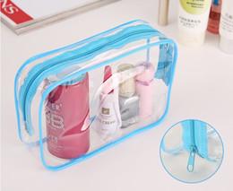 Wholesale 2016 New cosmetic bags make up bag transparent woman handbag air hostess travel bag Cosmetic case sizes colors