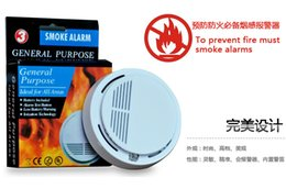 Wholesale Wireless Smoke Detector High Sensitive Fire Alarm Sensor Monitor for Home Security Top Quality Stable Photoelectric Security Alarm
