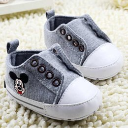 Baby first walkers shoes baby sport shoes cotton shoes cartoon mickey shoes color grey size 11-13cm 2016 kids shoes children shoes.2466