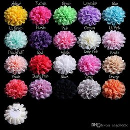 "5"" 12cm common camellia rose flower Hair Accessories hair clips Satin silk chiffon flowers hair clip Brooch without clip"