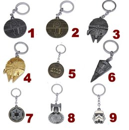 Wholesale 2016 Star Wars Trek Warship Millennium Falcon keyrings Keychains Gothic Punk Classic Antique Metal Men Key Chains Ring for christmas gifts