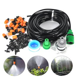 Wholesale 15M Drip Irrigation System DIY Micro Plant Manually Self Watering Garden Hose Kits with Connector Adjustable dripper