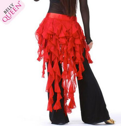 Wholesale New Colors Elegant Satin Long Gypsy Skirts Womens Belly Dance Costume Dress Ballroom Dance Ball Gown Fashion Hot Stage Wear