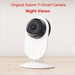 Wholesale 100 Original Xiaomi Yi Smart Camera Xiaoyi ants Smart Webcam IP camera wifi wireless camaras cctv cam Night Vision Edition