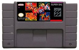 Wholesale classic snes mutil games cart usa version free ship hot sell ms001 in1 mixed order snes cartridge