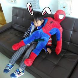 2017 superhéroes juguetes de peluche Dorimytrader los cabritos gigantes del juguete de Spiderman del Anime gigante grande relleno del super héroe de los 33 '' / 85cm agradables presentan el envío libre DY60787 superhéroes juguetes de peluche limpiar