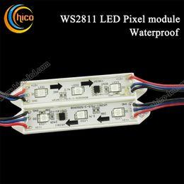 50pcs string Addressable 3pcs 5050 SMD RGB LED Light LED Pixel Module Waterproof WS2811 IC DC12V