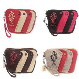 Wholesale Ladies Leisure Shorts - Fashion fish bag Coin purse change purse stripe wallet keychain key case mini Casual Bags Leisure shoulder bag L37