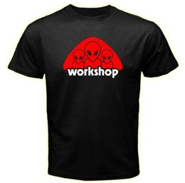 Wholesale The Alien Workshop Space CUstoms Logo Men Black T shirt