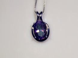 Wholesale & Retail Fashion Jewelry Fine Rainbow Cubic Zirconia Purple Silver Plated Pendants For Women PJ16011716