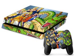 Cool Dragon Ball PS4 Skin Sticker Vinyl Decal for Sony Playstation 4 Console+2 PCS Controller Protective Skin Stickers