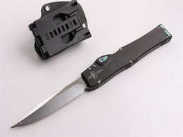 Wholesale Tactical Tool Microtech Halo V Sword Mark ELMAX Double Action Automatic Knife Aluminum Handle CNC Camping Knife Xmas Gift F618E