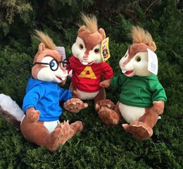 Wholesale New Arrival Alvin and the Chipmunks cartoon dolls plush toys movie original cm kids plush toy