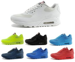 Wholesale 2016 Air USA Hyperfuse Prm American FLAG for Men Women Running Shoes Sneakers With Air Cushion HYPse Run Sneakers Shoes Eur