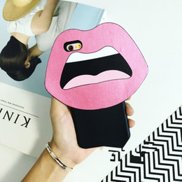 2015 New Arrive! Cute 3D Cartoon Sexy Lips Silicone Case Back Cover For Apple iphone 6 6 plus Free shipping