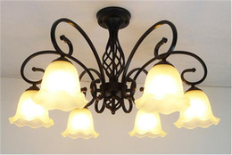 LRE040-Art Deco European Chandelier American Village Restaurant Iron Chandelier LED Bulb Light Chandelier for Hotel Decoration