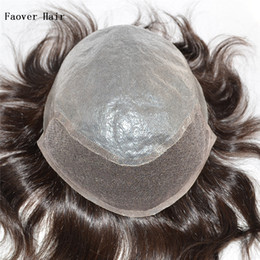 """Indian virgin hair 1b,2#,3#,4#,5#,6#,7# color men's toupee 110% density 6"""" hair pieces 10x8 size swiss lace at front with clear PU at back"""