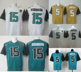 Wholesale Jaguars Elite Mens Jerseys Blake Bortles Allen Robinson Julius Thomas Stitched Jerseys Free Drop Shipping
